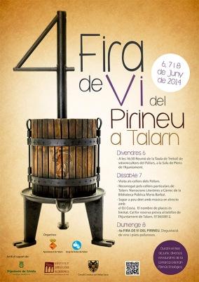L'alberg de Talarn us convida a la Fira del vi del pirineu a talarn
